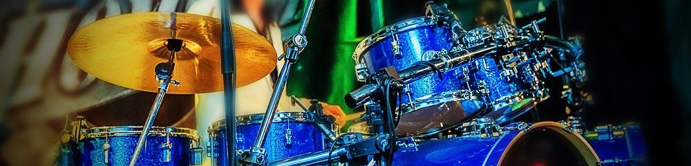 mickbeats Online-Schlagzeugunterricht - großes Drumset